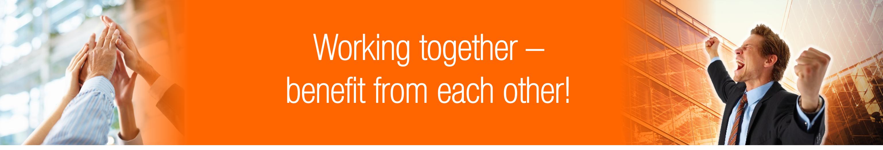 Working together benefit from each other