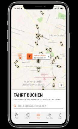 DE ride taxi app