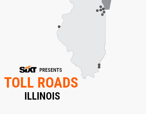 ILLINOIS Toll Roads Map NEW