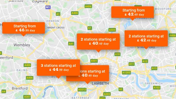 London Close Station Map