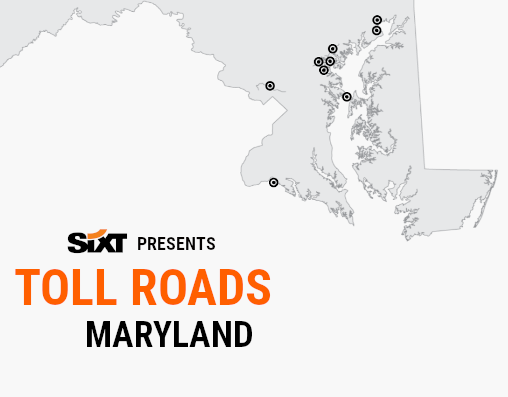 MARYLAND Toll Roads Map NEW