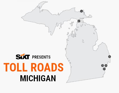 MICHIGAN Toll Roads Map NEW