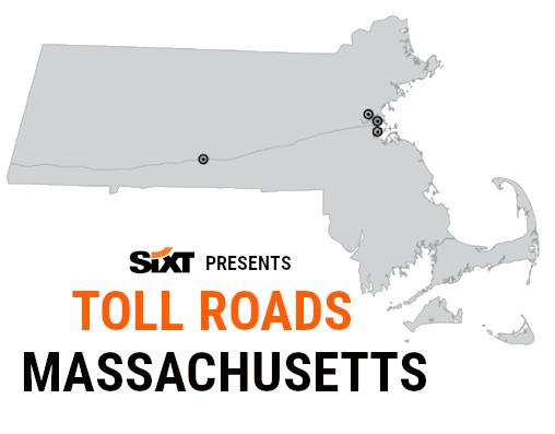 Massachusetts Toll Roads Map NEW