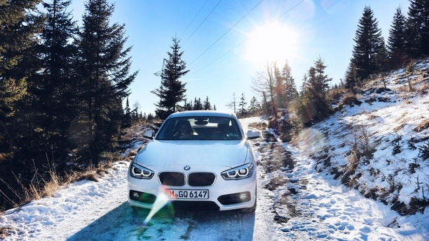 bmw serie1 forest winter