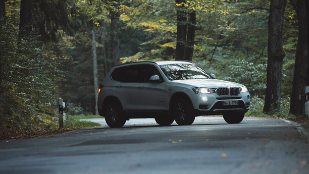 bmw x3 forest autumn