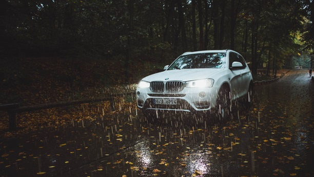 bmw x3 rain autumn