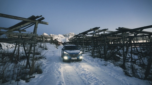 hyundai santafe snow winter