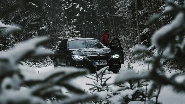 man bmw forest winter