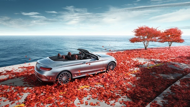 mercedes cclass coast autumn