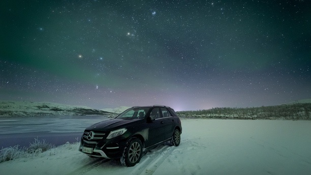 mercedes gle night winter