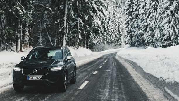 volvo xc90 snow winter