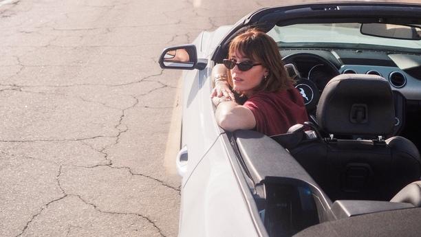 woman car road spring2