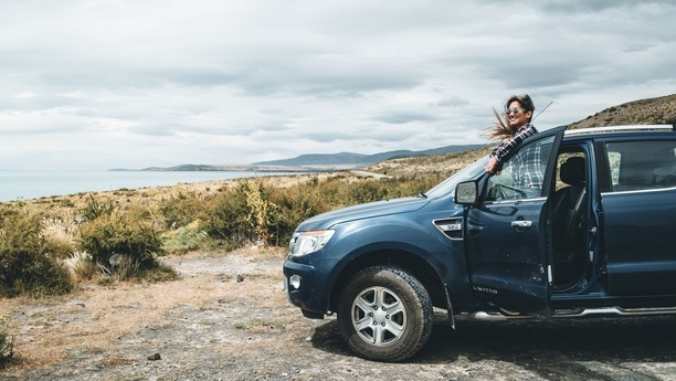 woman ford ranger autumn