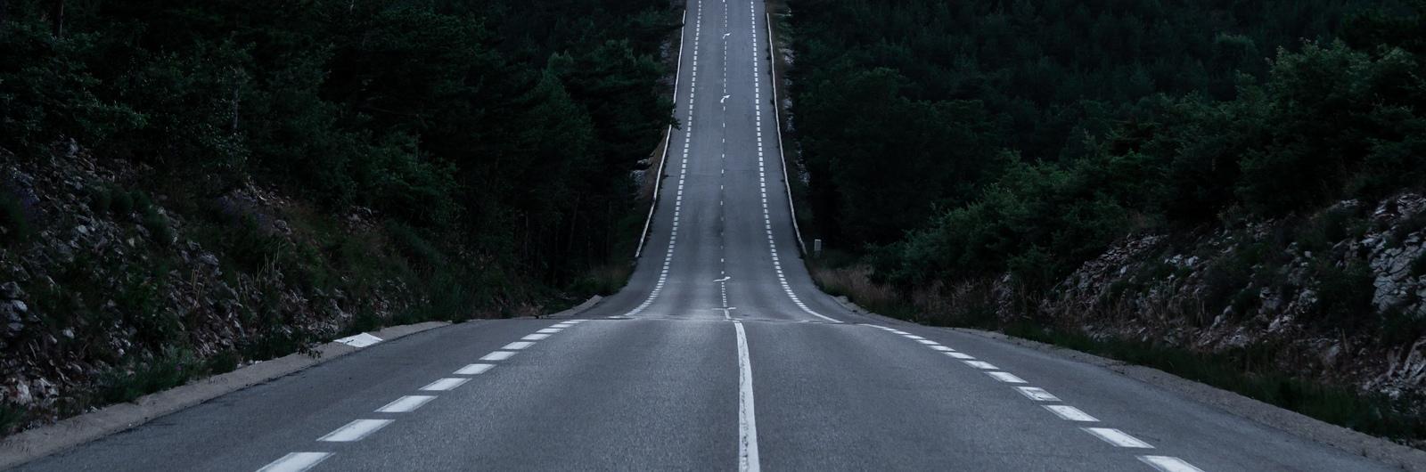 city header france highway sunset