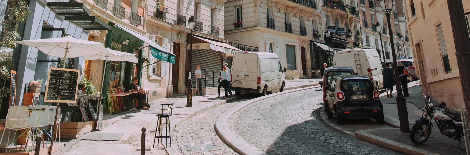 city header france street sunny