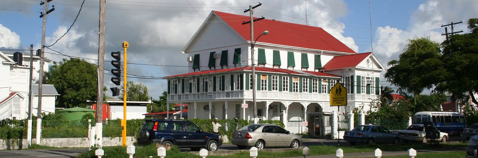 city header guyana town