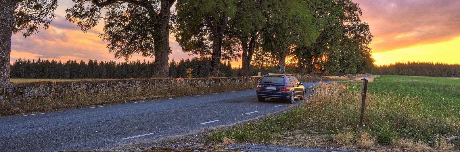 city header sweden rural road