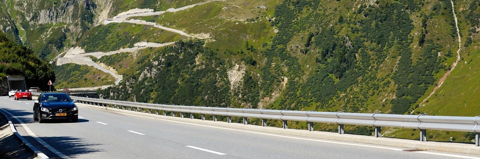 city header switzerland road mountains