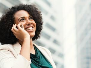 woman business phone
