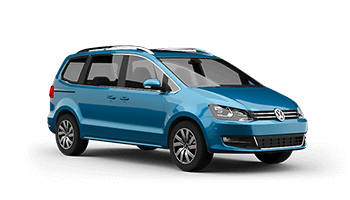 vw sharan van blau 2020