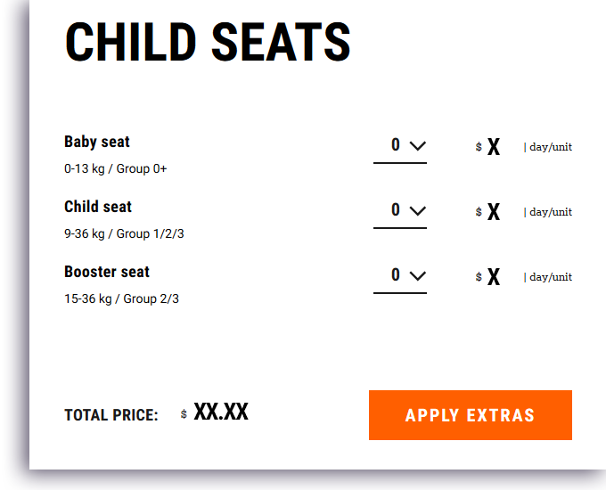 child seat offerselect sixt