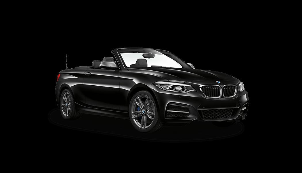bmw m240i cabrio 2d schwarz offen 2018
