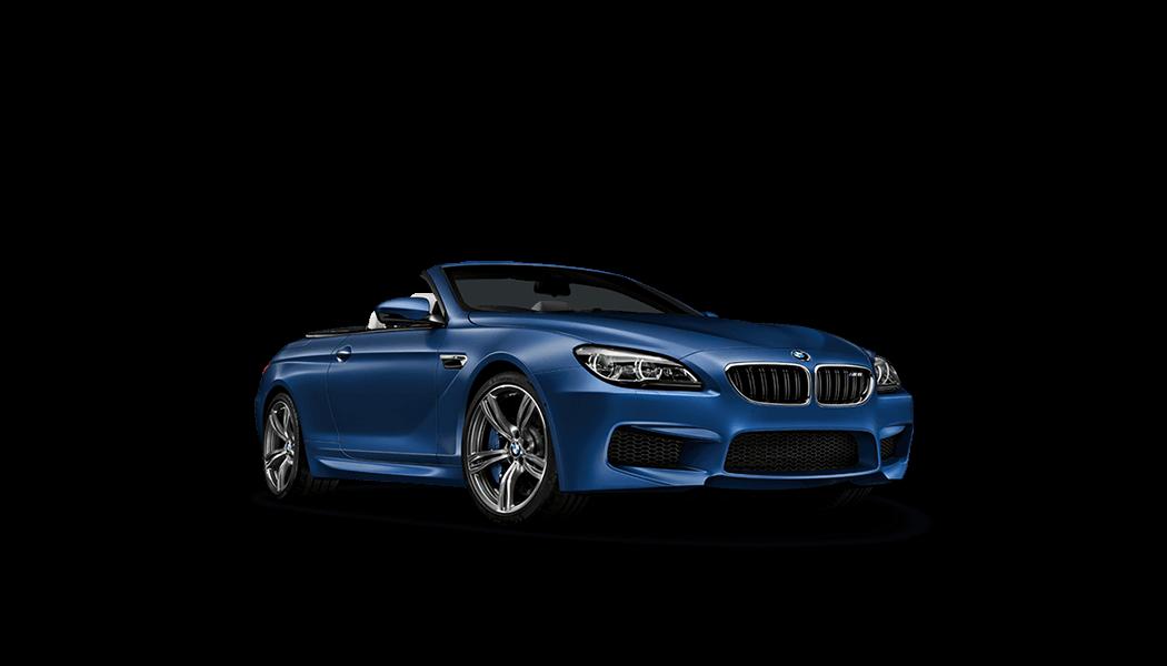 bmw m6 cabrio blau offen 2015