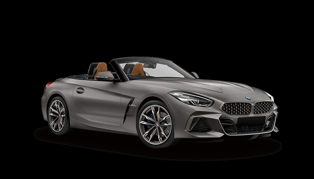 bmw z4 m40i roadster grau offen 2019