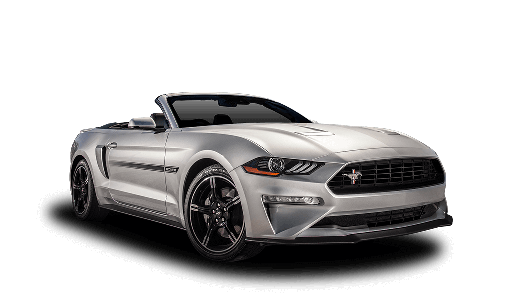 ford mustang cabrio silber offen 2019