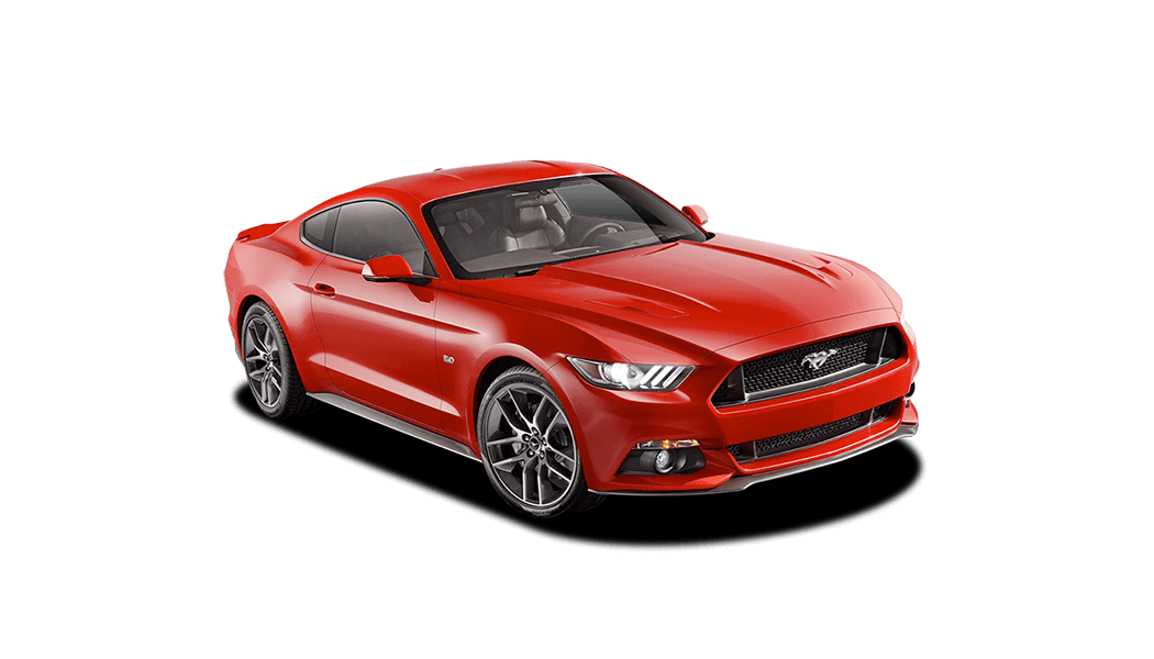 ford mustang coupe red 2015