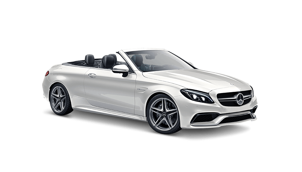 mb c63 amg cabrio weiss offen 2017