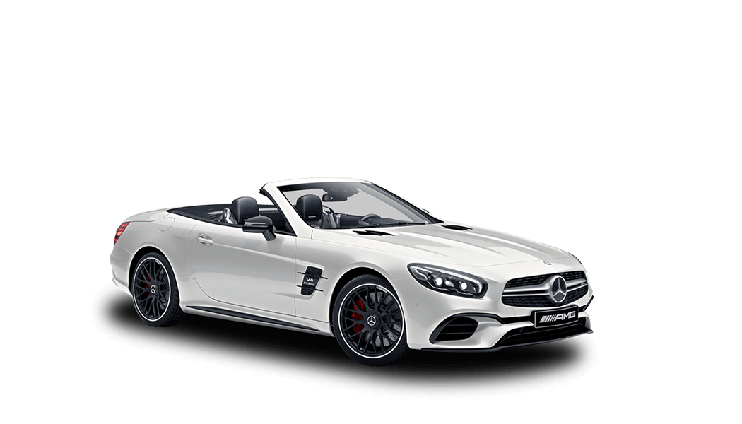 mb sl63 amg cabrio weiss offen 2018