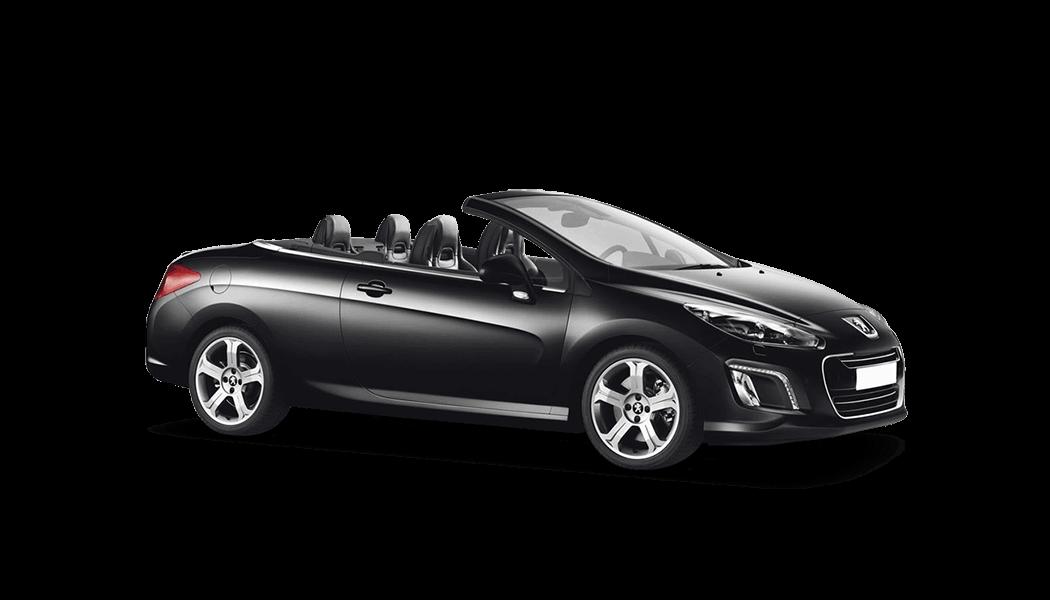 peugeot 308 cabrio 2d schwarz 2014
