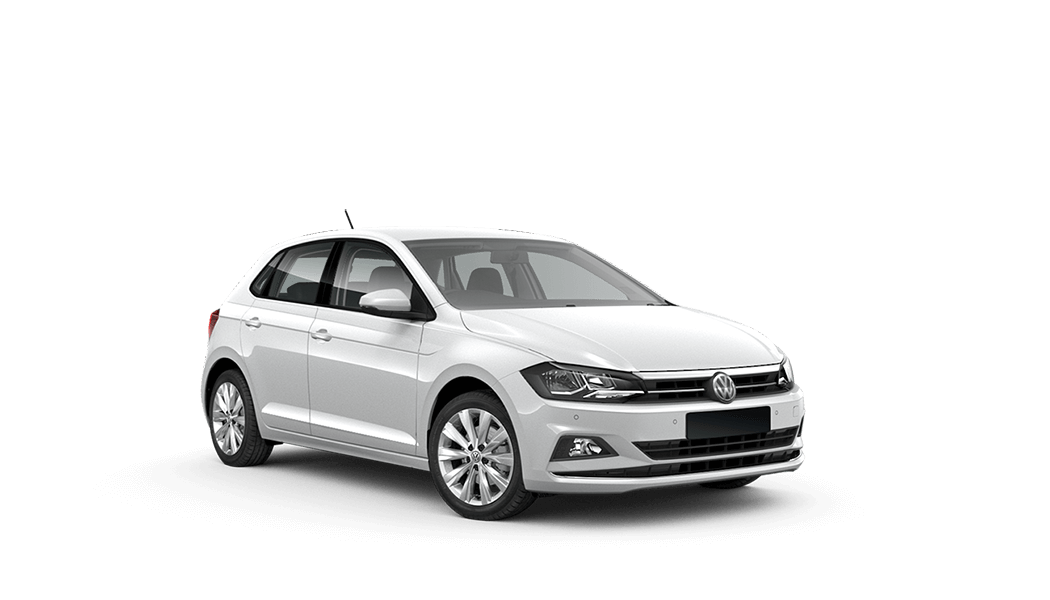 vw polo 5d weiss 2018