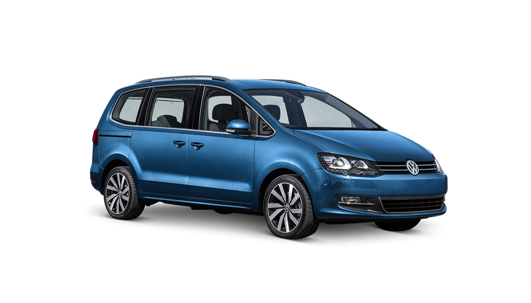 vw sharan van blau 2016