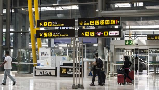 madrid airport content