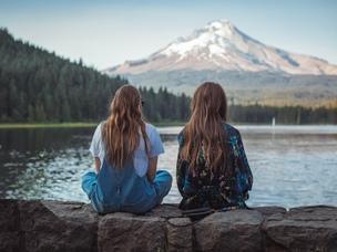 friends girls lake