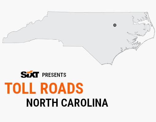 NORTH CAROLINA Toll Roads Map NEW
