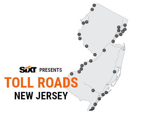 New Jersey Toll Roads Map NEW