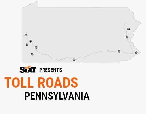 PENNSYLVANIA Toll Roads Map NEW
