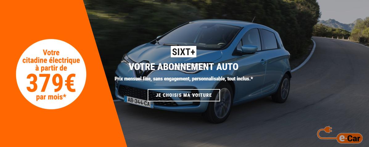 SIXT Renault Zoe electrique