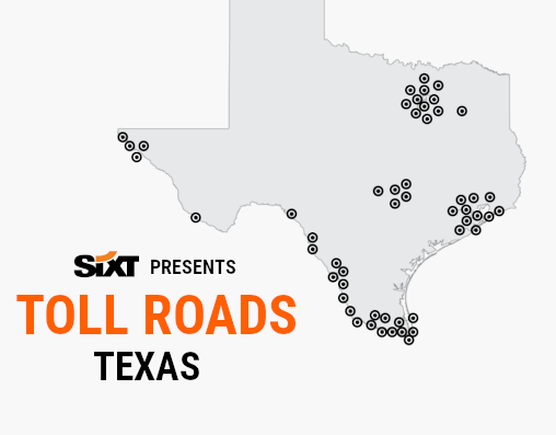 TEXAS Toll Roads Map NEW