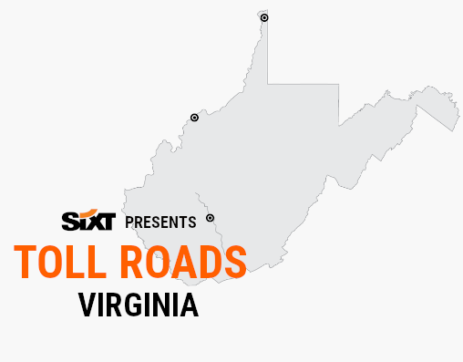 VIRGINIA Toll Roads Map NEW