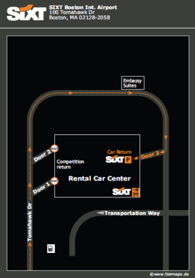Boston Airport Map