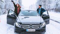 couple car snow winter