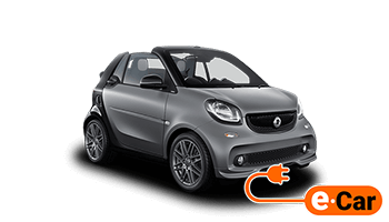 smart for two cabrio grau offen 2017 elektro